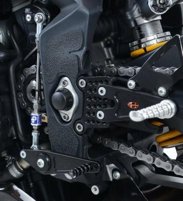 R&G Stiefel Rahmen Schutz Kit Triumph Daytona 675 Bj.13- - schwarz