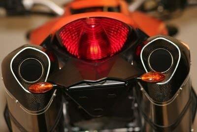 Kennzeichenhalter - KTM 990 Superduke mit LED Blinkern