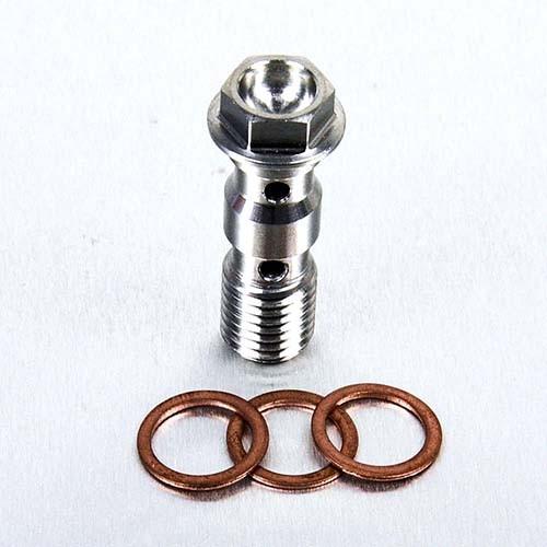 Edelstahl A4 Hohl Schraube Doppel vorne Bremszylinder M10 x (1.25mm)