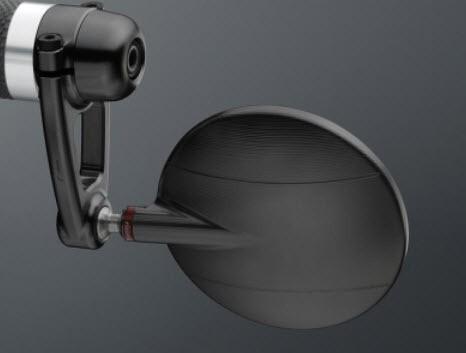 Lenkerenden Spiegel Spy Arm ohne ABE - schwarz