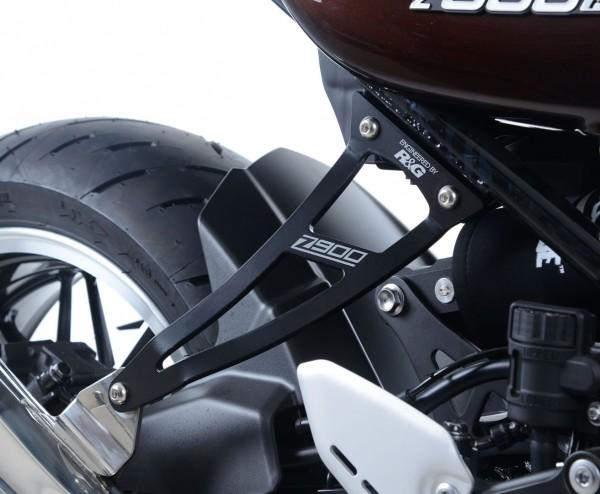 R&G Auspuffhalter Alu & Soziusrasten Abdeckplatte für kit the Kawasaki Z900RS '18-