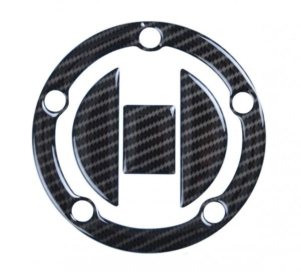 R&G Red Dynamic Carbon Tankdeckel Protektor für Suzuki Motorrads