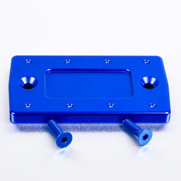 Alu Brems Hydraulikbehälter Deckel rechteckig 43mm x 75mm