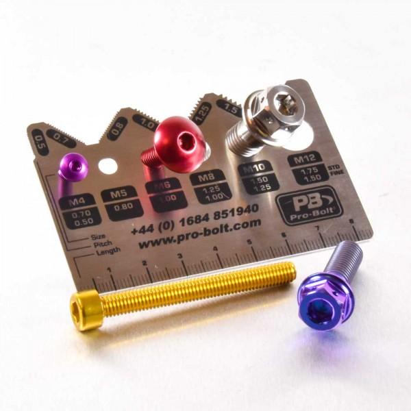 Pro-Bolt-Lehre Schrauben Messwerkzeug gehört in jede Werzeugbox