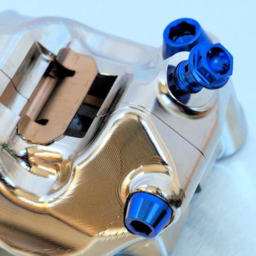 Gold Staubkappe Motorrad Entl/üftungsschraube M10x1.0mm Universal Motorrad Hauptbremszylinder Bremssattel Entl/üftungsschraube Aluminium Nippel Hohlschraube