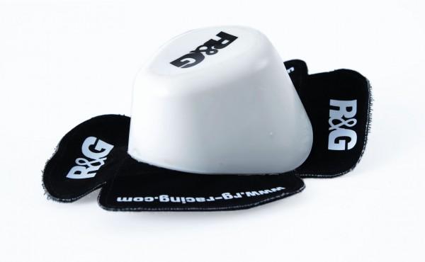 R&G Aero 'Wet' Knieschleifer (Paar) Weiß