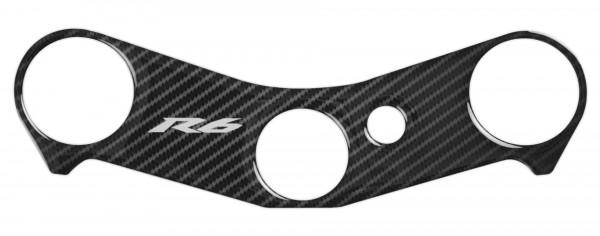 R&G Red Dynamic Carbon Gabelbrücken Protektor für Yamaha YZF-R6 '06-'16