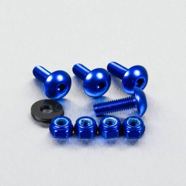 Alu Nummernschild Befestigungs-Kit mit 4 Schrauben plus Muttern