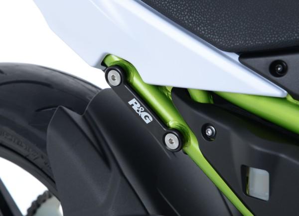 Abdeckplatten für hinteren Soziusrasten Halter für Kawasaki Z650 '17- und Ninja 650 '17