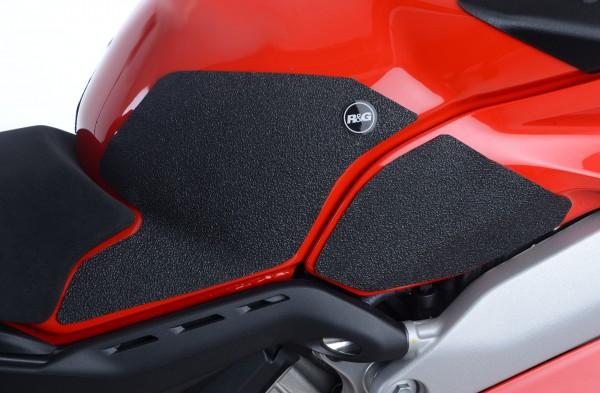 R&G Eazi-Grip Tank Traction Pads für Ducati Panigale V4, V4S und Speciale Modelle - transparent