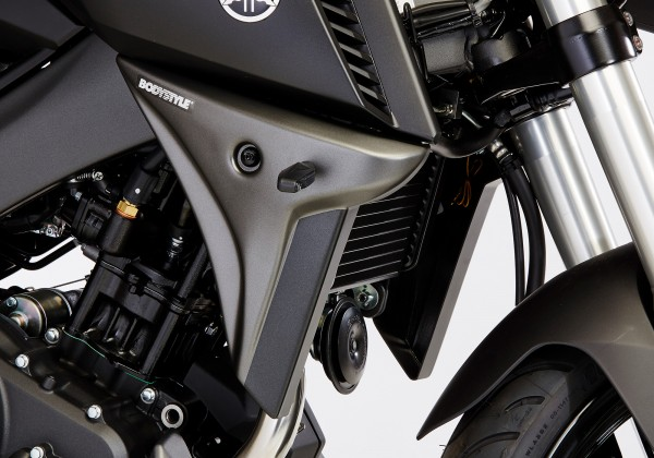 Kühlerseitenverkleidung - blau/schwarz - Yamaha MT-125 (2014-2016)