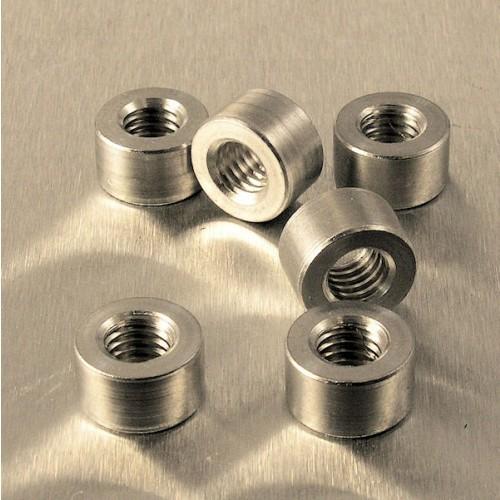 Alu Gewindeflansch M6 Gewinde 10.5mm Durchmesser - 6mm Länge