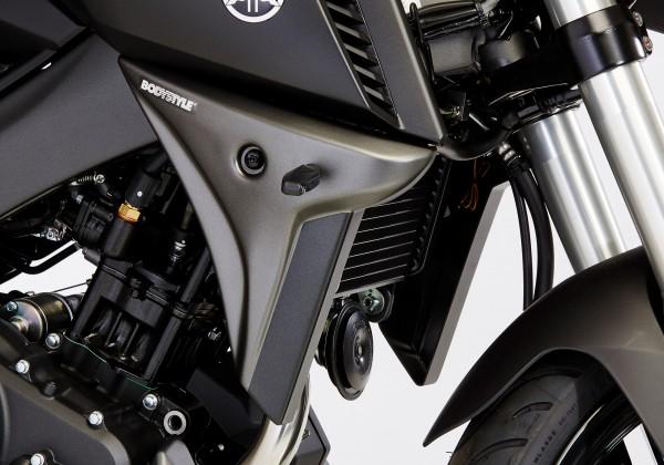 Kühlerseitenverkleidung - grau-matt/schwarz - Yamaha MT-125 (2014-2016)