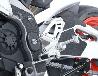 R&G Schwingen-Rahmen Schutzpads - Für Aprilia RSV4 und Tuono 1100 '15- Modelle - schwarz