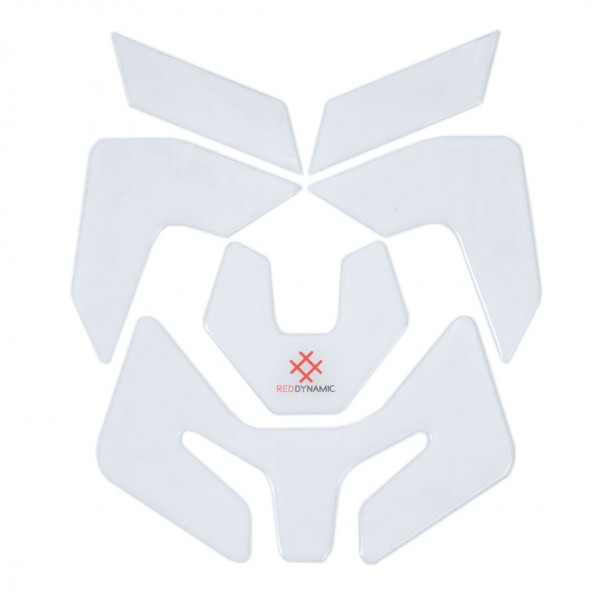 R&G Red Dynamic Helmet Defender (6 Stück - Klar-Durchsichtig)
