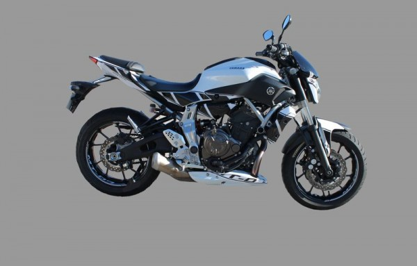 Aufkleberkit Racing weiß-schwarz für Yamaha MT07